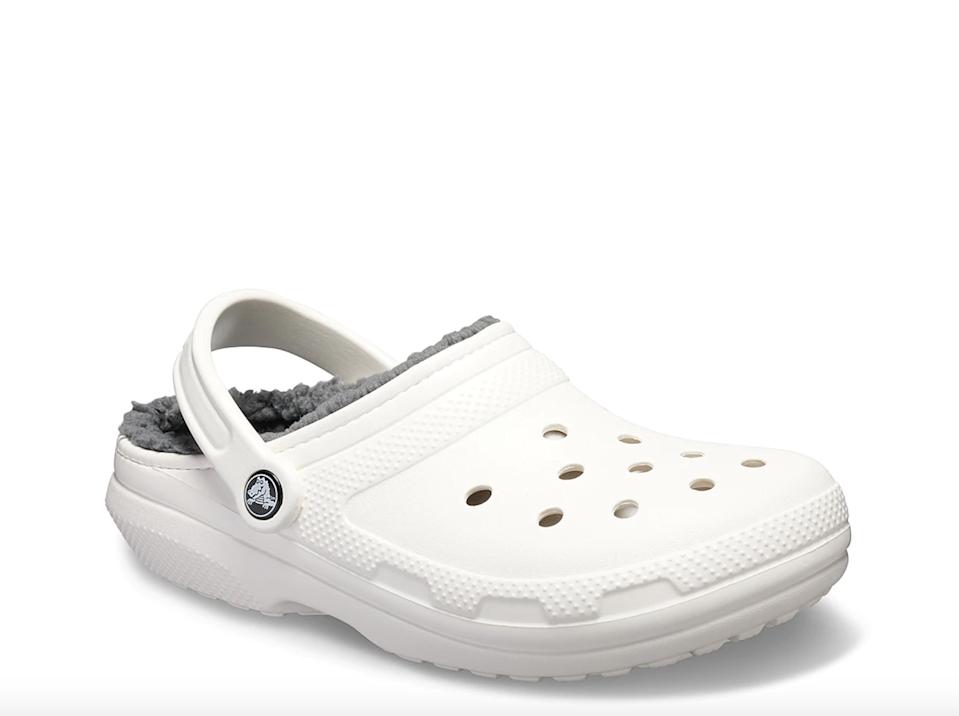 "<br><br><strong>Crocs</strong> Classic Lined Clog, $, available at <a href=""https://go.skimresources.com/?id=30283X879131&url=https%3A%2F%2Fwww.dsw.com%2Fen%2Fus%2Fproduct%2Fcrocs-classic-lined-clog---womens%2F438702"" rel=""nofollow noopener"" target=""_blank"" data-ylk=""slk:DSW"" class=""link rapid-noclick-resp"">DSW</a>"
