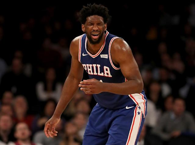 Cameroon-born Joel Embiid is among the African stars who could be featured in live telecasts on the new NBA Africa YouTube channel (AFP Photo/ELSA)