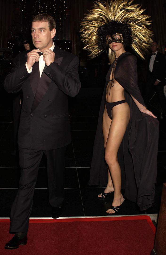 Prince Andrew at a fancy dress 'Mystery Vamp And Seduction' party in 2002 (Getty Images)