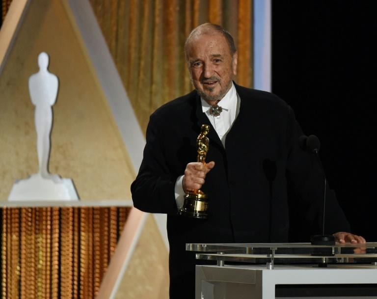 Last Oscar: Carriere picking up his final Academy Award in 2014 for lifetime's achievement