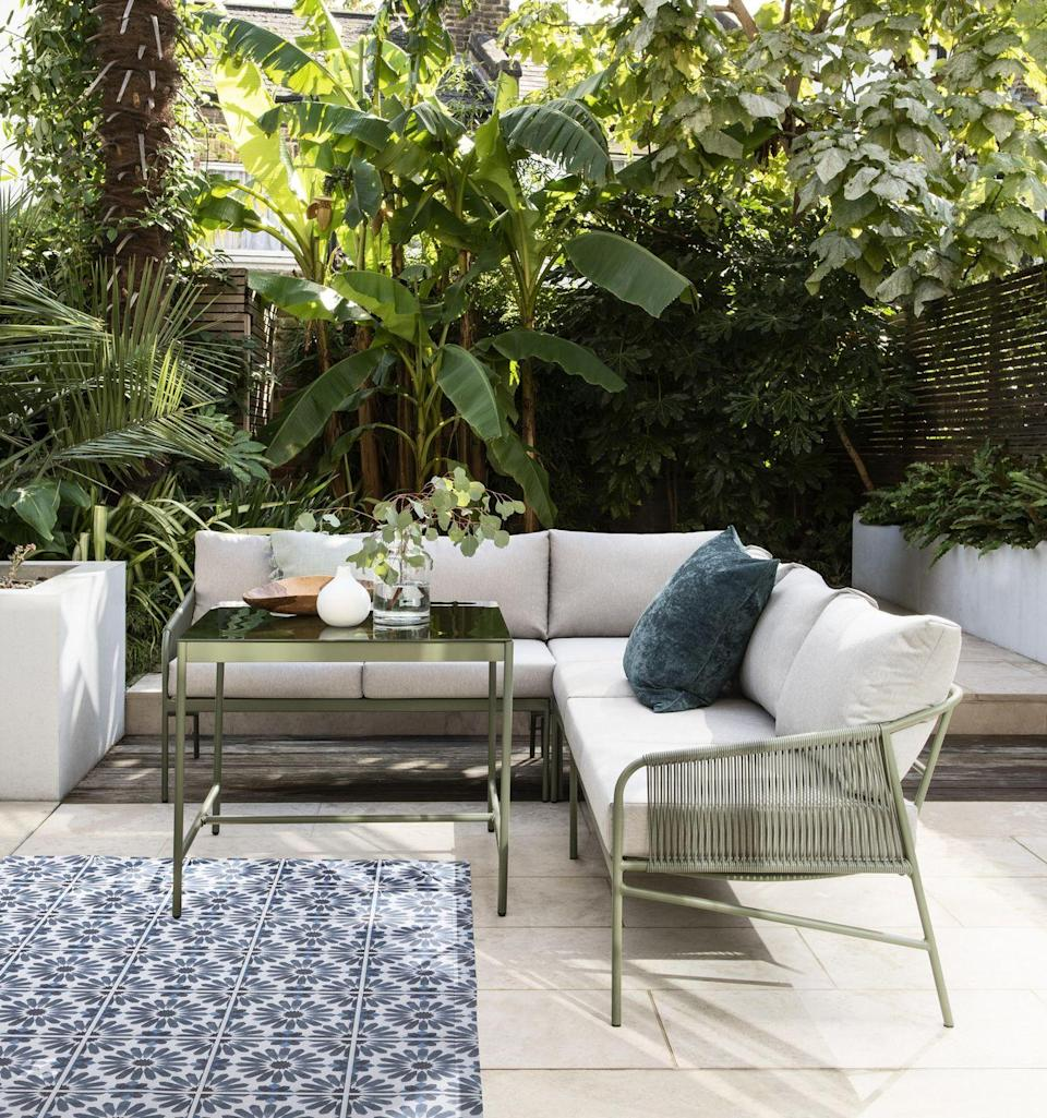 """<p>Complement your outdoor aesthetic with a relaxing <a href=""""https://www.housebeautiful.com/uk/garden/g32443194/best-garden-sofa/"""" rel=""""nofollow noopener"""" target=""""_blank"""" data-ylk=""""slk:garden sofa"""" class=""""link rapid-noclick-resp"""">garden sofa</a>. Ideal for a patio, balcony or sprawling lawn, they offer a more relaxed approach to outdoor seating — and are just what every Instagram feed needs. </p><p>Pictured: Hosta Corner Living/Dining Set, Next, £699</p><p><a class=""""link rapid-noclick-resp"""" href=""""https://www.housebeautiful.com/uk/garden/g32443194/best-garden-sofa/"""" rel=""""nofollow noopener"""" target=""""_blank"""" data-ylk=""""slk:READ MORE: THE BEST GARDEN SOFAS"""">READ MORE: THE BEST GARDEN SOFAS</a></p>"""