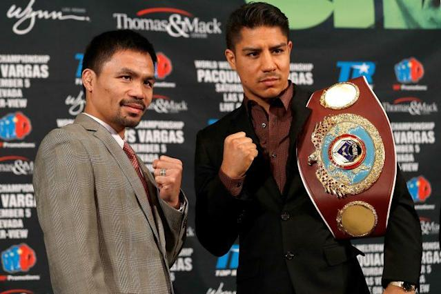 Manny Pacquiao is taking a hit with his guarantee in his fight with Jessie Vargas. (Getty Images)