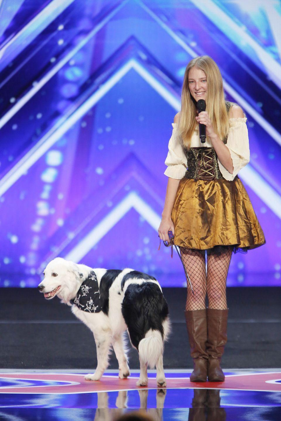 "<p>To prevent people from showing up with wild animals, the <em>AGT </em>team requires that contestants bring vaccine records for any pets. Contestants should also <a href=""https://www.americasgottalentauditions.com/faq/open-call/"" rel=""nofollow noopener"" target=""_blank"" data-ylk=""slk:fill out a form online"" class=""link rapid-noclick-resp"">fill out a form online</a> to find out if there are any additional steps they need to take before the big day. </p>"
