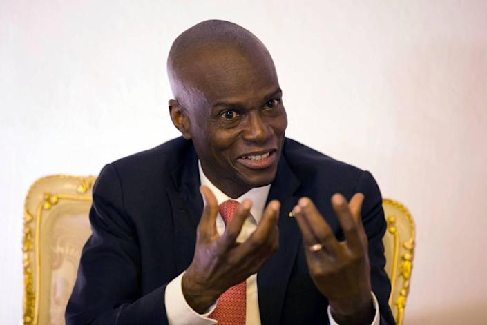 In this 2019 photo, Haitian President Jovenel Moise is being interviewed in his office in Port-au-Prince. Moïse was assassinated early Wednesday.