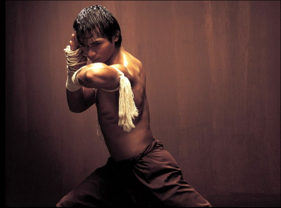 "<p>The film marked the breakout moment for Muy Thai martial artist Tony Jaa and the beginning of one of the best action franchises ever. There's not a lot of fakery in Jaa's fight scenes. Dudes are getting punched for real. </p><p><a class=""link rapid-noclick-resp"" href=""https://www.amazon.com/Ong-Bak-Warrior-Tony-Jaa/dp/B002ONISWI/ref=sr_1_1?dchild=1&keywords=Ong-Bak&qid=1595259686&s=instant-video&sr=1-1&tag=syn-yahoo-20&ascsubtag=%5Bartid%7C2139.g.26455274%5Bsrc%7Cyahoo-us"" rel=""nofollow noopener"" target=""_blank"" data-ylk=""slk:WATCH NOW"">WATCH NOW</a></p>"