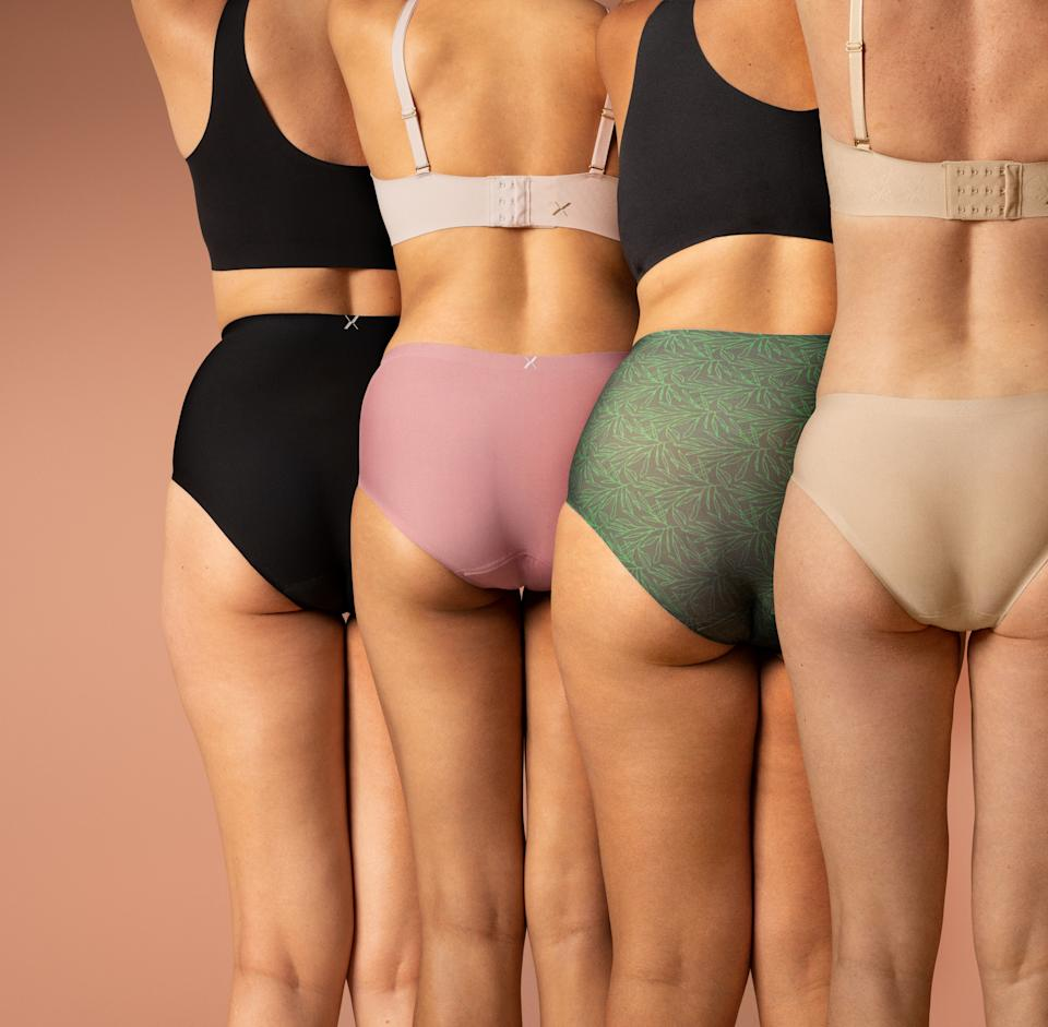 Knix Super Leakproof Underwear comes in four colors. Image courtesy of Knix.