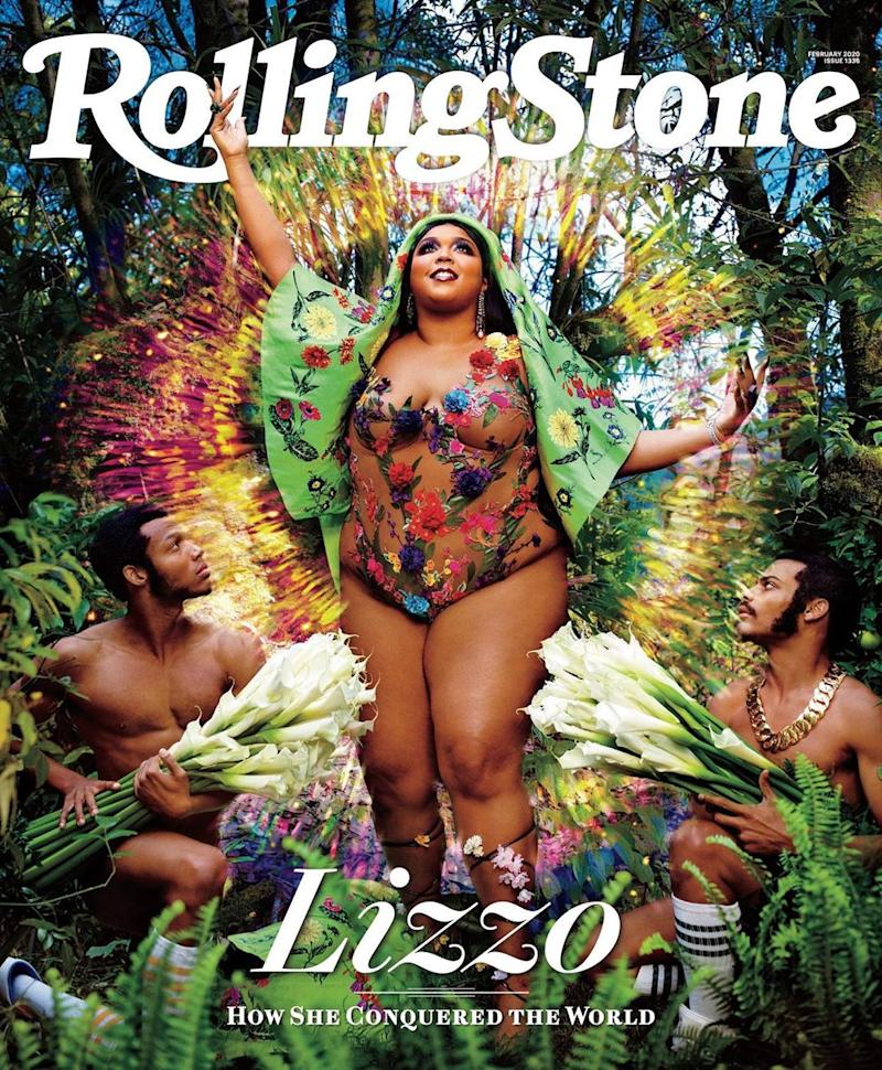 "Lizzo wants people to know that body positivity is ""not a trend."" (Photo: Instagram/Rolling Stone)"