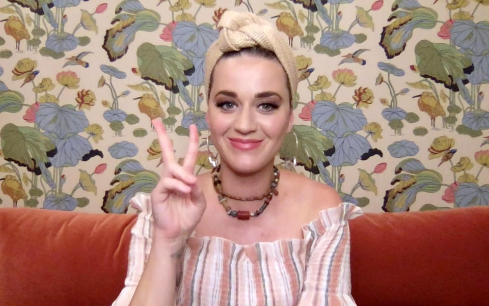 UNSPECIFIED - MAY 09: In this screengrab, Katy Perry speaks during SHEIN Together Virtual Festival to benefit the COVID – 19 Solidarity Response Fund for WHO powered by the United Nations Foundation on May 09, 2020. (Photo by Getty Images/Getty Images for SHEIN)