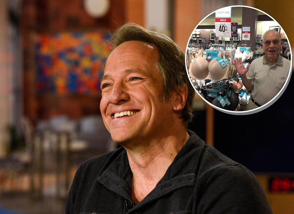 """""""Dirty Jobs"""" host Mike Rowe shared his father's recent shopping experience on Facebook. (Photo: Getty Images, inset:Facebook/Mike Rowe)"""