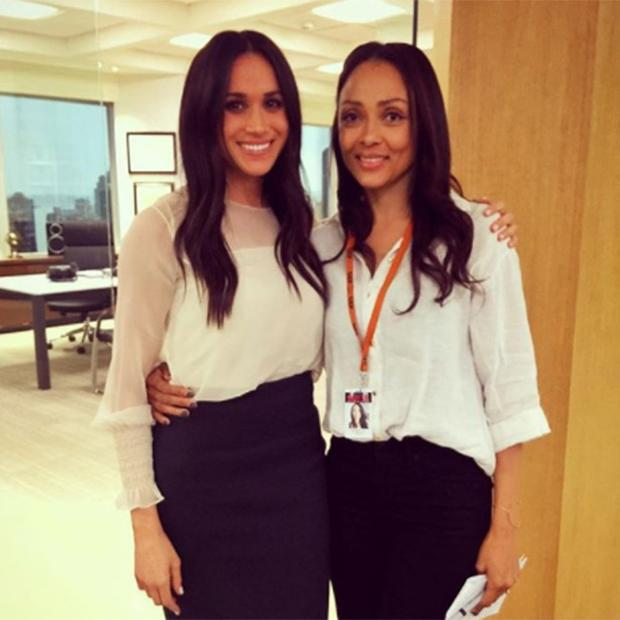 Meghan Markle and her stand-in for the show 'Suits'