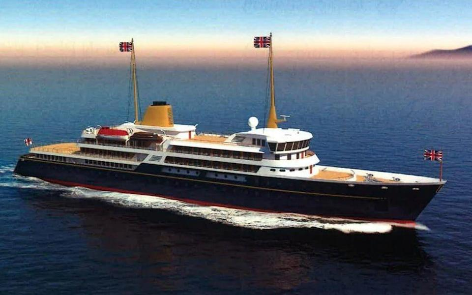 An artist's impression of the new national flagship to replace the Royal Yacht Britannia