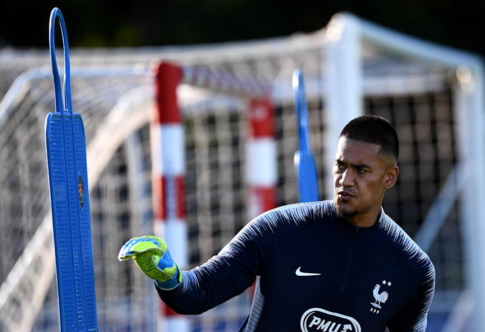 France's goalkeeper Alphonse Areola takes part in a training session at the French national football team training base in Clairefontaine-en-Yvelines on September 2, 2019. (Photo: FRANCK FIFE/AFP via Getty Images)