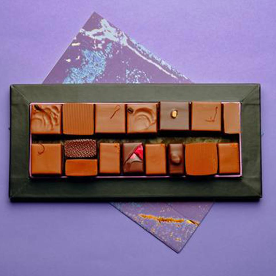 """<p><strong>Kreuther Handcrafted Chocolate</strong></p><p>goldbelly.com</p><p><strong>$99.00</strong></p><p><a href=""""https://go.redirectingat.com?id=74968X1596630&url=https%3A%2F%2Fwww.goldbelly.com%2Fkreuther-handcrafted-chocolate%2Fchefs-selection-22-piece&sref=https%3A%2F%2Fwww.redbookmag.com%2Ffood-recipes%2Fg35014712%2Fbest-boxed-chocolates%2F"""" rel=""""nofollow noopener"""" target=""""_blank"""" data-ylk=""""slk:Shop Now"""" class=""""link rapid-noclick-resp"""">Shop Now</a></p><p>Think of this Gabriel Kreuther and Marc Aumont box as a chef's tasting menu of chocolates: the selection changes based on the season, which makes every box a discovery of tastes like gingerbread, salted butter caramel, banana peanut, and French baguette.</p>"""
