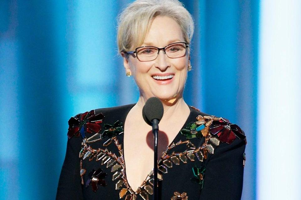 Streep took on Trump in her speechGetty