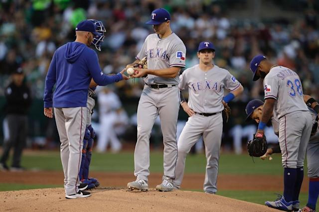 Have the Rangers hit rock bottom after a second straight lopsided loss to the A's?