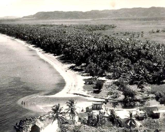 The beach-lined coast of Negril, Jamaica, in 1956. Source: AP Photo