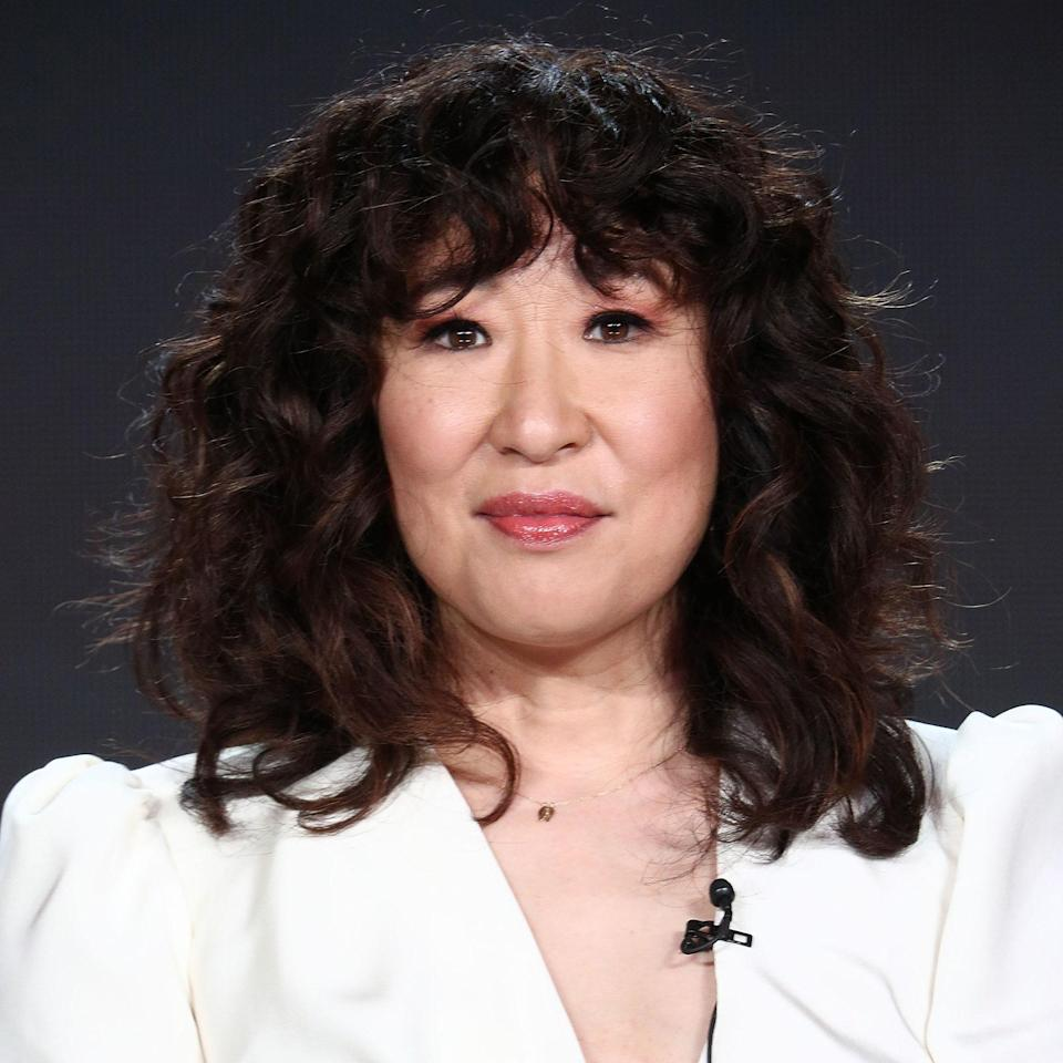 """Sandra Oh's curly shag was pretty much the envy of everyone when she first stepped out with it. """"This haircut is great for looser curls and waves,"""" says veteran hairstylist <a href=""""https://www.instagram.com/kimblehaircare/?hl=en"""" rel=""""nofollow noopener"""" target=""""_blank"""" data-ylk=""""slk:Kim Kimble"""" class=""""link rapid-noclick-resp"""">Kim Kimble</a>. """"It gives the hair style rather than a bunch of curly hair on top of your head. The shape helps frame the face nicely."""" You'll be able to recreate this <a href=""""https://www.allure.com/story/shag-haircut-instagram-trend-curly-hair?mbid=synd_yahoo_rss"""" rel=""""nofollow noopener"""" target=""""_blank"""" data-ylk=""""slk:trendy shag"""" class=""""link rapid-noclick-resp"""">trendy shag</a> look most easily on looser curl textures."""