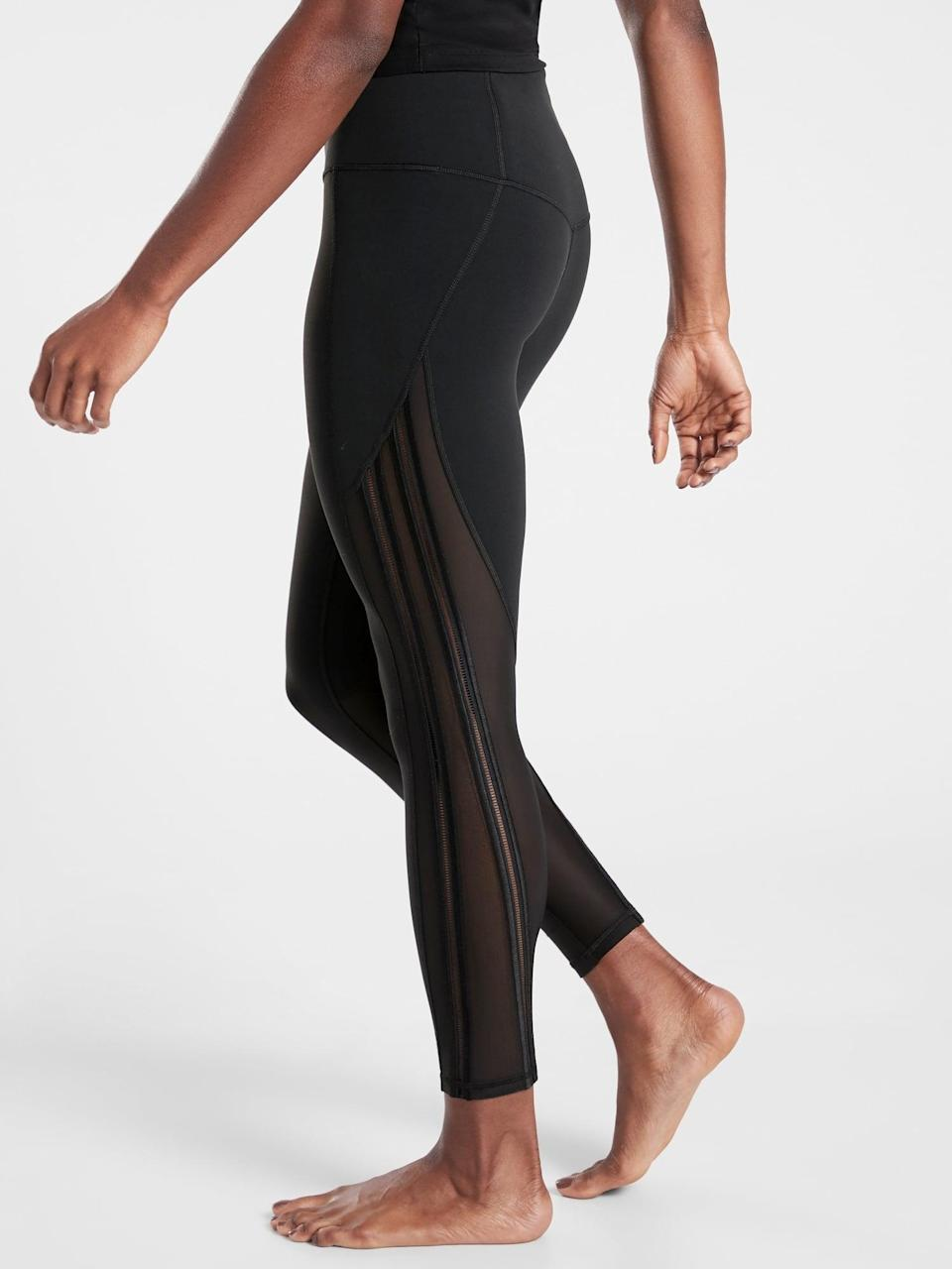 <p><span>Athleta Shakti Mesh 7/8 Tight</span> ($80, originally $98)</p>