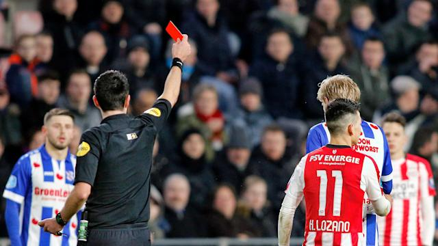 The Mexico national team winger's suspension following a red card against Heerenveen was upheld Friday