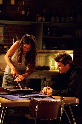 Charisma Carpenter and David Boreanaz in WB's Angel