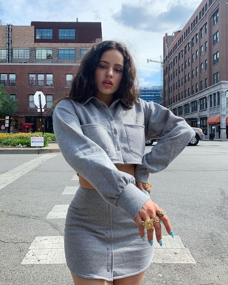 Peep Rosalia's Louis Vuitton themed blue tips in Chicago. Courtesy of Instagram.