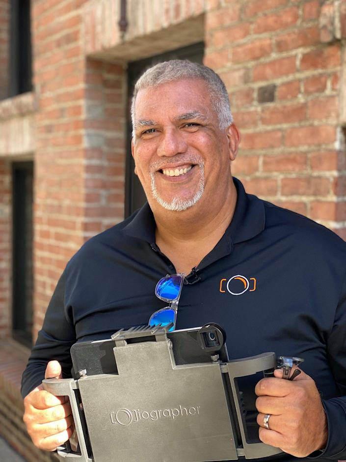 Dave Basulto, the creator of the iOgrapher mobile video case
