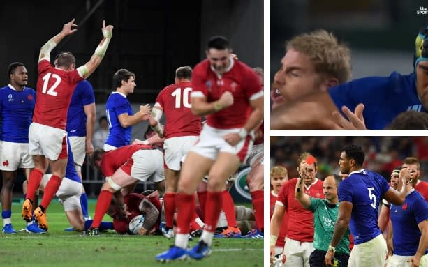 Ross Moriarty's score was definitive after France's Sebastien Vahaamahina was red carded - GETTY IMAGES/ITV