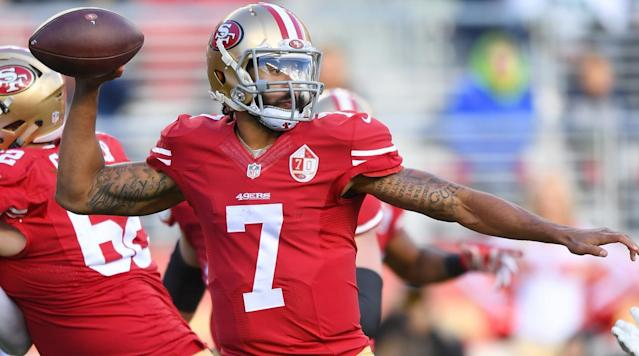 Amid speculation that teams are shying away from signing Colin Kaepernick because of his willingness to stand up for his beliefs, Ravens coach John Harbaugh offered a defense of the free agent quarterback.