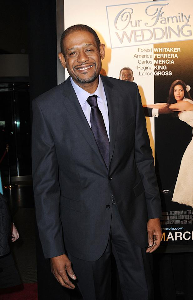 """<a href=""""http://movies.yahoo.com/movie/contributor/1800022007"""">Forest Whitaker</a> at the New York City premiere of <a href=""""http://movies.yahoo.com/movie/1810093971/info"""">Our Family Wedding</a> - 03/09/2010"""