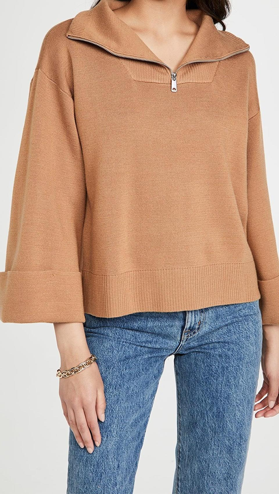 <p>This <span>Scotch & Soda/Maison Scotch Sporty Knit Sweater</span> ($248) will look so cute with straight-leg jeans.</p>