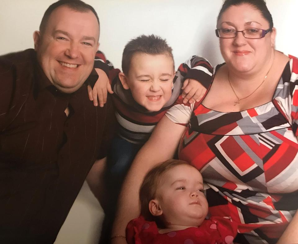 Karen and Paul Ledsham with Harrison and Abigail