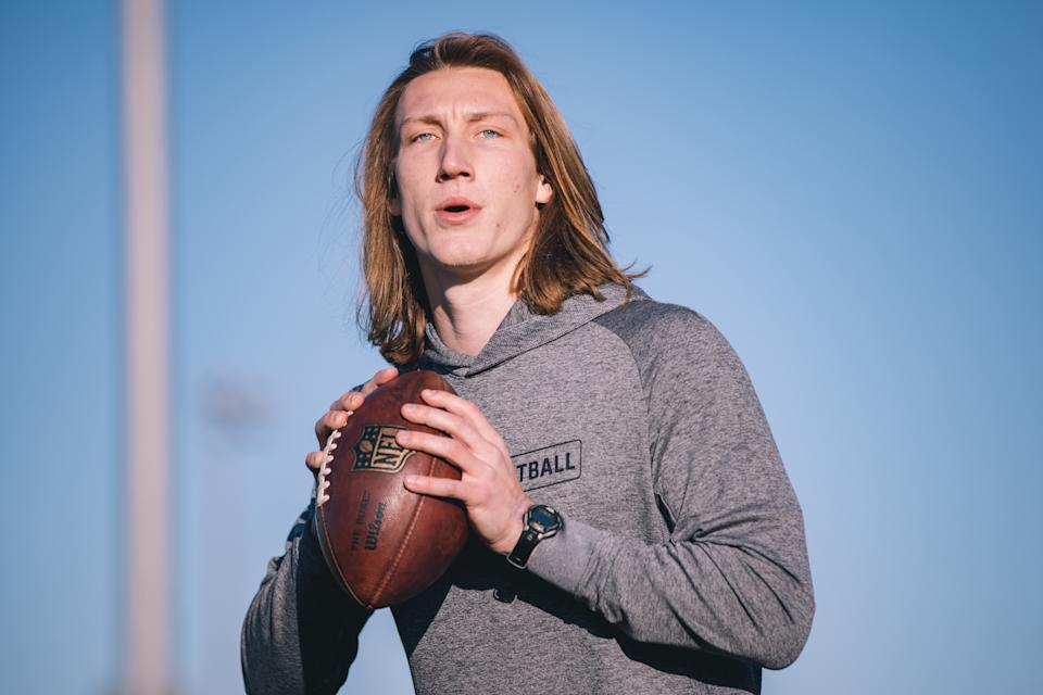 Trevor Lawrence has signed an endorsement deal with the cryptocurrency app Blockfolio. (Photo by Aubrey Lao/Getty Images)
