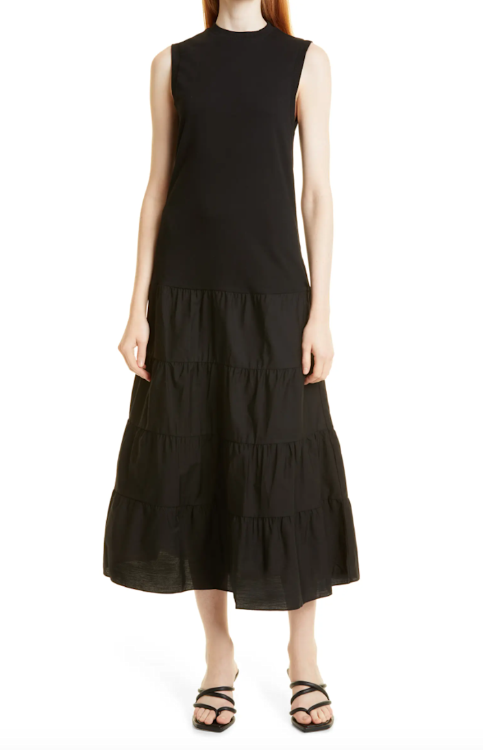 """<h2>Ted Baker London Sleeveless Tiered Maxi Dress</h2><br><strong><em>The Trendy Tiered Pick</em></strong><br><br>The <a href=""""https://www.refinery29.com/en-us/tiered-dresses"""" rel=""""nofollow noopener"""" target=""""_blank"""" data-ylk=""""slk:tiered dress trend"""" class=""""link rapid-noclick-resp"""">tiered dress trend</a> is not going anywhere anytime soon, so opt for one that's smart, sophisticated, and easy to transition from one season to the next. This sleeveless style is great for layering and has been dubbed by one happy reviewer as a """"forever dress.""""<br><br><strong>The Hype: </strong>4.8 out of 5 stars; 5 reviews on Nordstrom.com<br><br><strong>What They're Saying</strong>: """"You wouldn't think a dress... this simple could feel like such a high-quality, forever dress. But it is. Love it. Love the long length, love just the right amount of ruffle. Knit material is substantial but not too heavy. I'll pay more attention to this designer, now!"""" — NordyAlum, Nordstrom reviewer<br><br><em>Shop</em> <strong><em><a href=""""https://www.nordstrom.com/s/ted-baker-london-sleeveless-tiered-maxi-dress/5928623"""" rel=""""nofollow noopener"""" target=""""_blank"""" data-ylk=""""slk:Nordstrom"""" class=""""link rapid-noclick-resp"""">Nordstrom</a></em></strong><br><br><strong>Ted Baker London</strong> Sleeveless Tiered Maxi Dres, $, available at <a href=""""https://go.skimresources.com/?id=30283X879131&url=https%3A%2F%2Fwww.nordstrom.com%2Fs%2Fted-baker-london-sleeveless-tiered-maxi-dress%2F5928623"""" rel=""""nofollow noopener"""" target=""""_blank"""" data-ylk=""""slk:Nordstrom"""" class=""""link rapid-noclick-resp"""">Nordstrom</a>"""