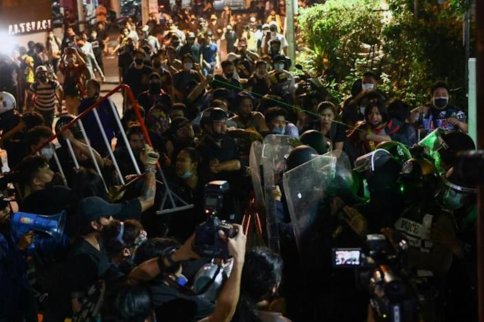 Thai pro-democracy protesters returned to the streets of Bangkok after nearly two months