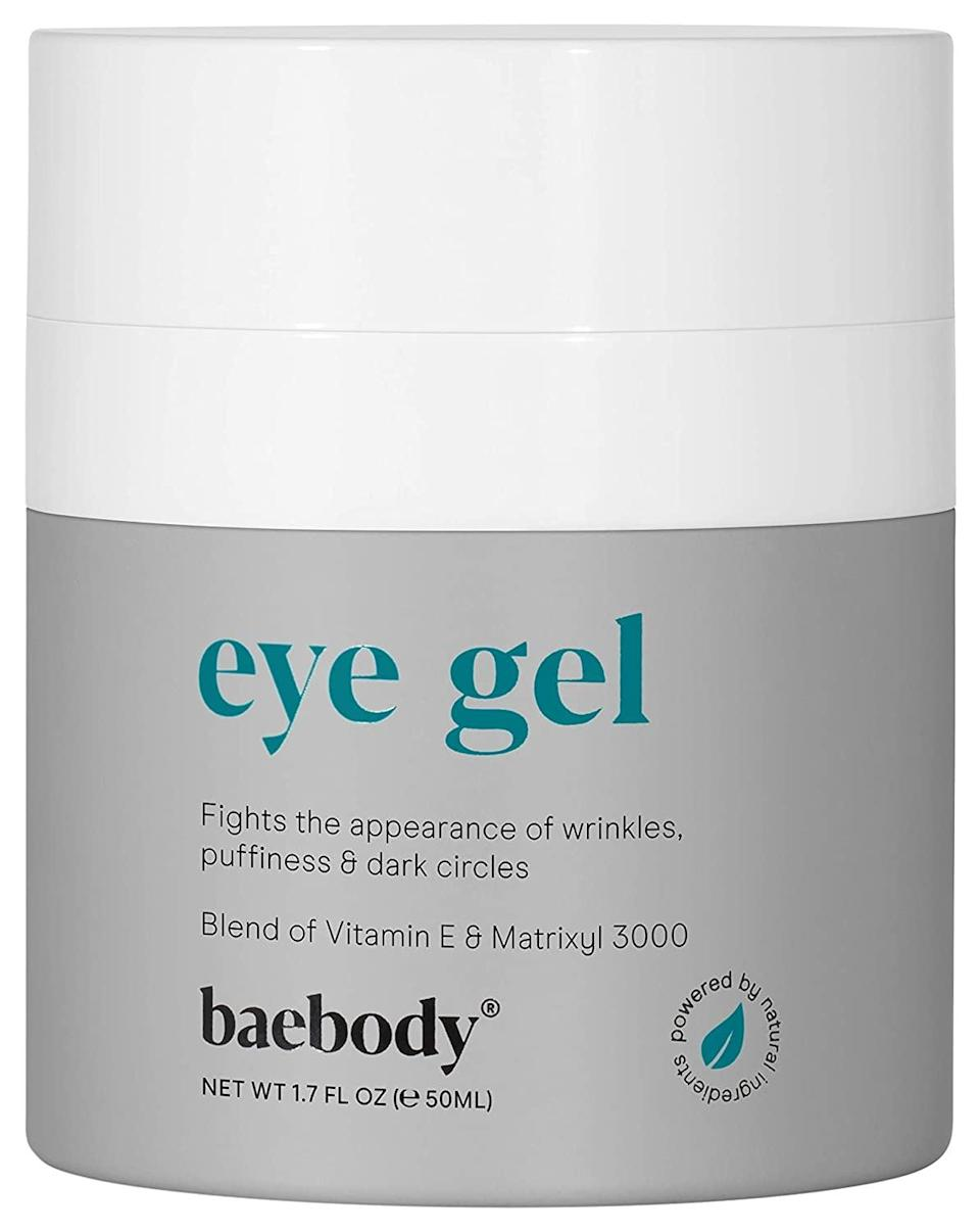 <p>Revive your under eyes with the nourishing <span>Baebody Eye Gel</span> ($25). The lightweight gel contains a peptide complex, Matrixyl 3000, vitamin E, and soothing aloe to smooth fine lines, brighten dark circles and de-puff bags. You can use it morning and night and give your under eyes the extra love it deserves. It has over 23,000 ratings.</p>