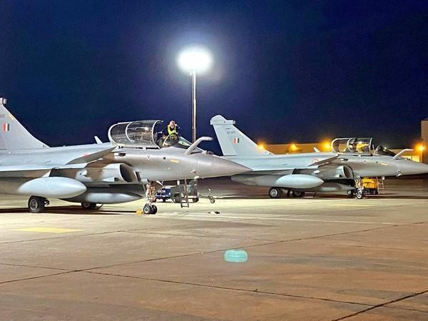 The Rafale aircraft that arrived in India on Wednesday.