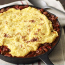 "<p>The polenta crust of this chili recipes adds a delicious, creamy twist on your favorite meal. Plus, the cornmeal recipe only takes minutes to make. </p><p><em><a href=""https://www.goodhousekeeping.com/food-recipes/a3419/beef-wheat-berry-chili-ghk-0107/"" rel=""nofollow noopener"" target=""_blank"" data-ylk=""slk:Get the recipe for Chili Pot Pie with Polenta Crust »"" class=""link rapid-noclick-resp"">Get the recipe for Chili Pot Pie with Polenta Crust »</a></em></p>"