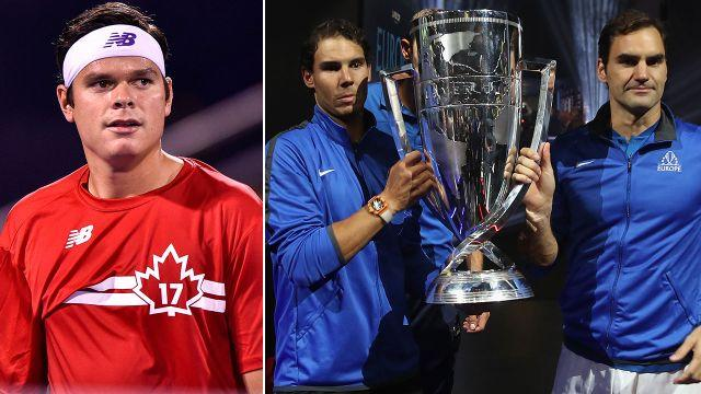 Raonic's year has been frustrating, while Nadal and Federer have thrived. Image: Getty