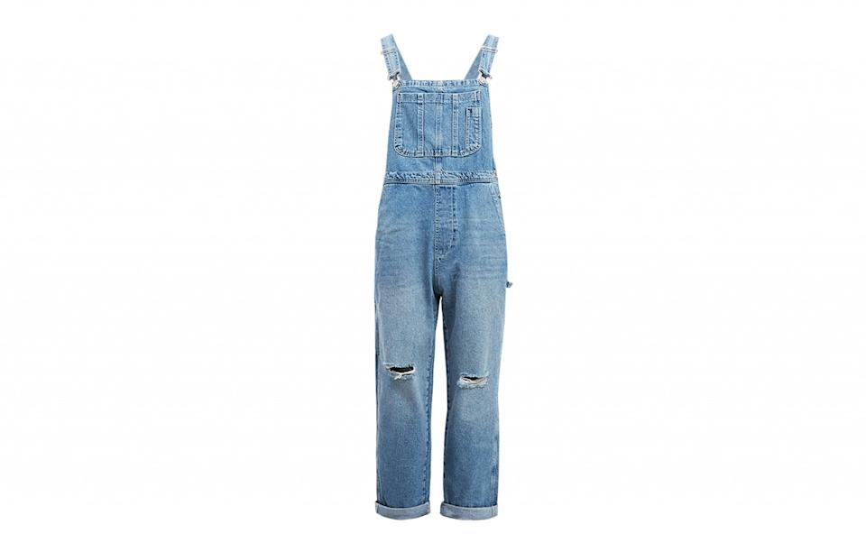 """<p><a rel=""""nofollow noopener"""" href=""""https://www.urbanoutfitters.com/en-gb/shop/bdg-boyfriend-distressed-dark-vintage-dungarees?category=SEARCHRESULTS&color=091"""" target=""""_blank"""" data-ylk=""""slk:Urban Outfitters, £62"""" class=""""link rapid-noclick-resp"""">Urban Outfitters, £62</a> </p>"""