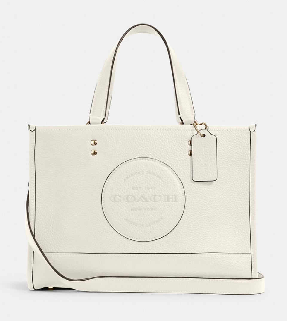 white leather coach outlet Dempsey Carryall bag with Patch