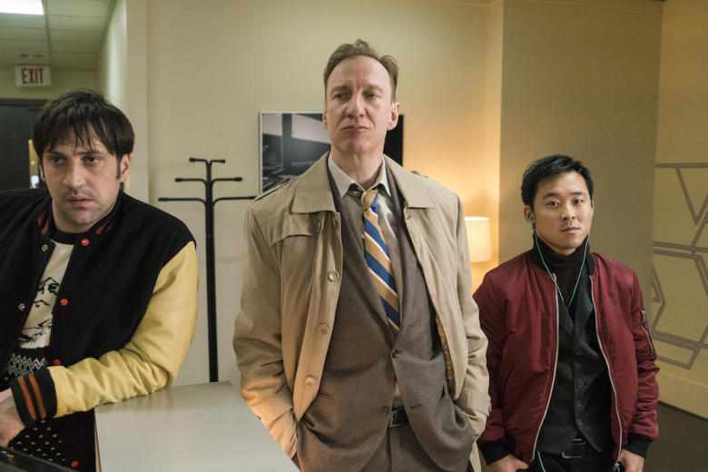 FARGO Year 3 Goran Bogdan as Yuri Gurka, David Thewlis as V.M. Vargas, Andy Yu as Meemo. CR: Chris Large/FX