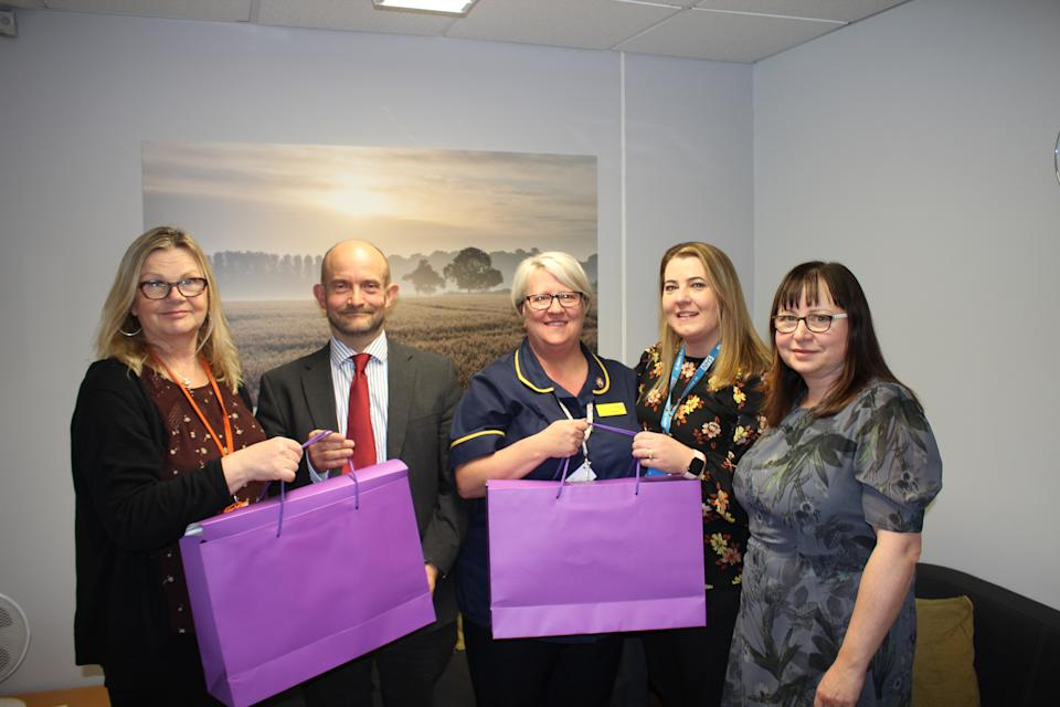 Ali Griffiths (middle) says her personal experience inspired her to create the new 'bereavement bags' [Photo: Plymouth University Hospitals]