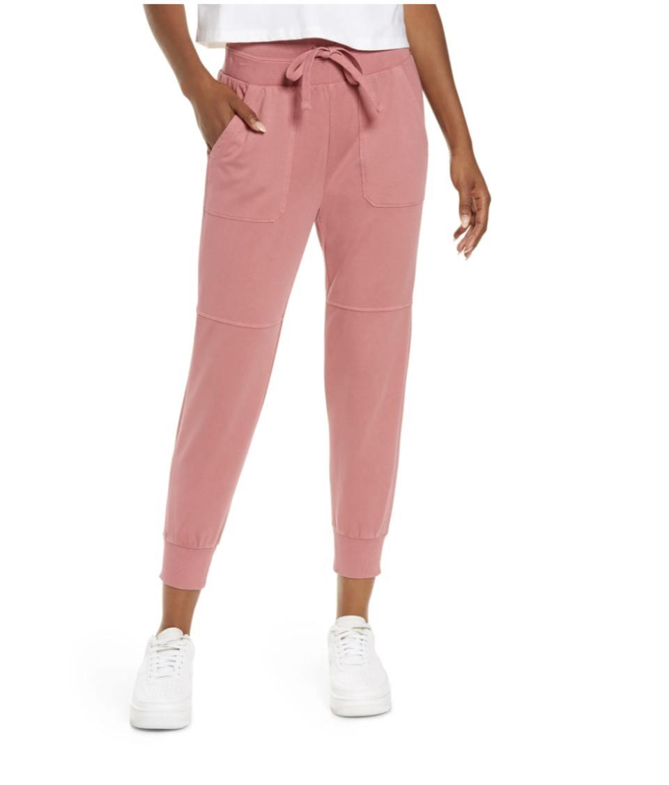 Zella Washed Organic Cotton Joggers - Nordstrom