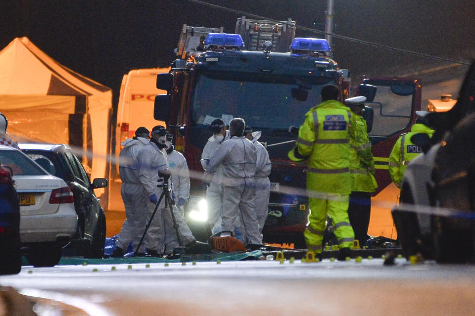 Police have not revealed details about why the crash happened (SWNS)