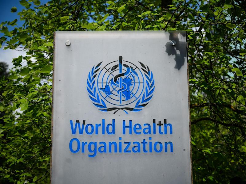 A sign of the World Health Organization (WHO) in Geneva next to their headquarters: (2020 Getty Images)