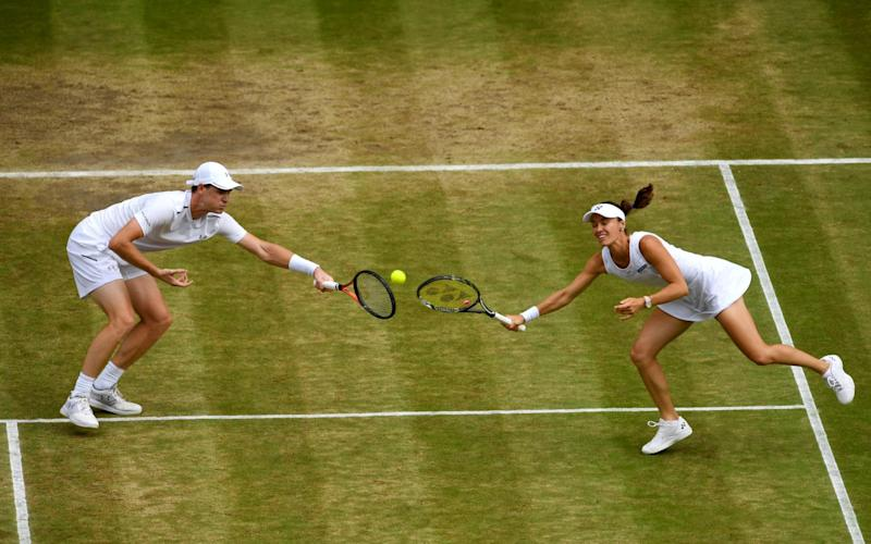 jamie Murray and Martina Hingis in action - Credit: jamie Murray and Martina Hingis in action
