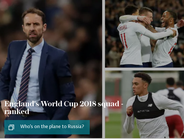 England's World Cup 2018 squad - ranked