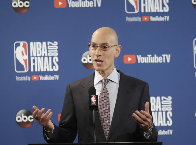 NBA commissioner Adam Silver has contract extended through 2023-24 season. (AP Photo)