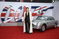 Phoebe Waller-Bridge poses for photographers upon arrival for the World premiere of the new film from the James Bond franchise 'No Time To Die', in London Tuesday, Sept. 28, 2021. (Photo by Joel C Ryan/Invision/AP)