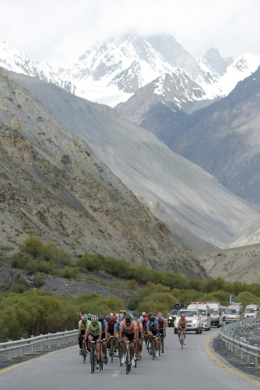 The race was held in Pakistan's northern Gilgit region, home to some of the planet's tallest peaks (AFP Photo/AAMIR QURESHI)